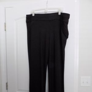 Maurices Black and White pinstriped pants 2R plus